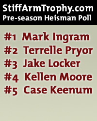 Our first-ever pre-season poll - with 88 voters - and Mark Ingram leads the pack